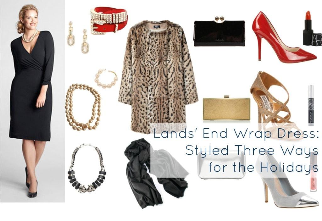 lands end wrap dress