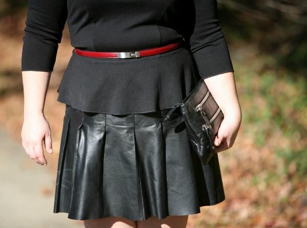 oxblood skinny belt