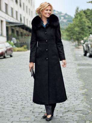 pendelton fox fur wool coat