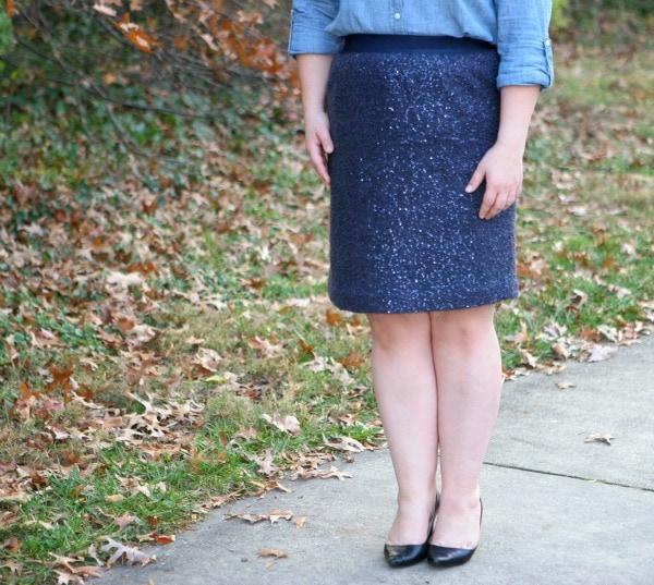 sequin skirt lands end