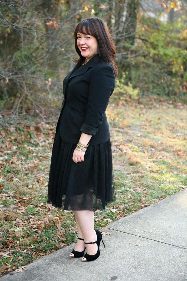 tulle skirt for work