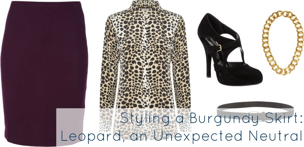 burgundy with leopard