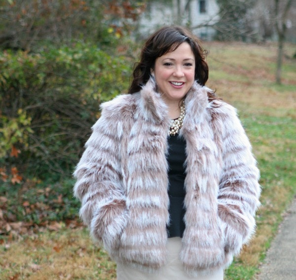 faux fur chubby coat