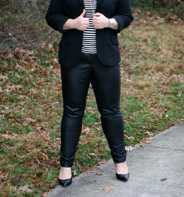 faux leather front pants ann taylor