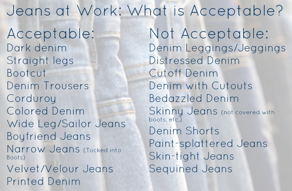jeans at work acceptable