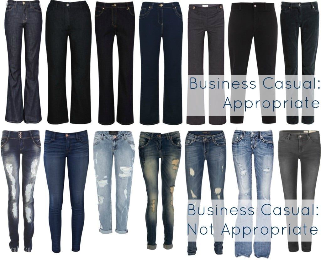 jeans office work business casual