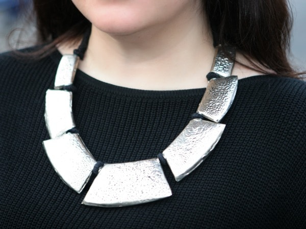 bold silver necklace