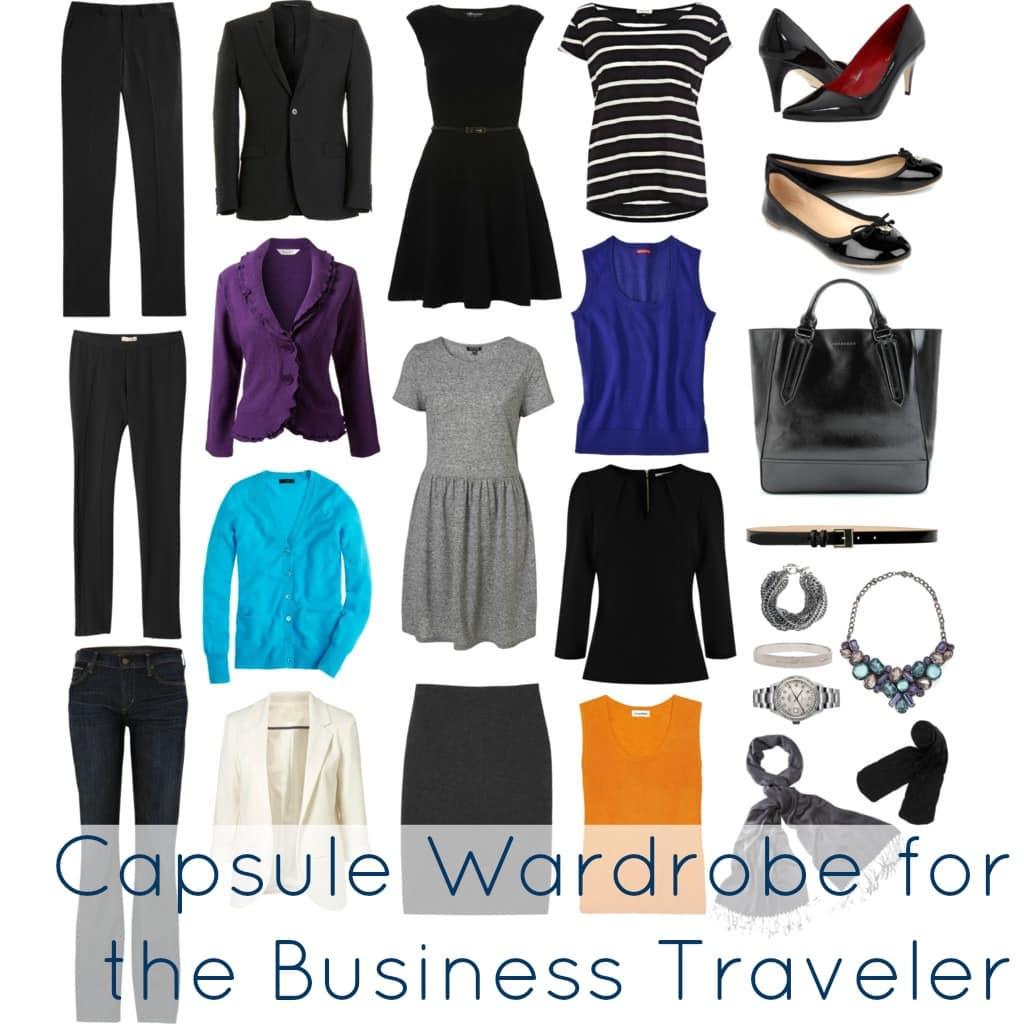 business travel capsule wardrobe