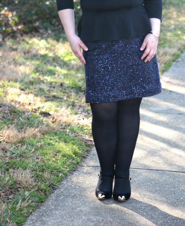 lands end sequin skirt