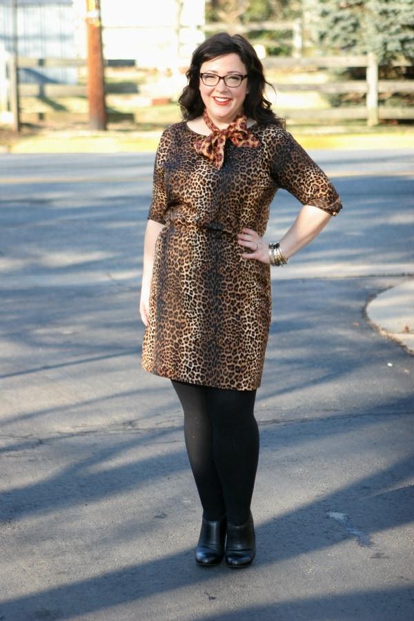 leopard michael kors dress
