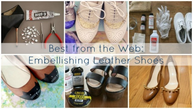 DIY leather shoes