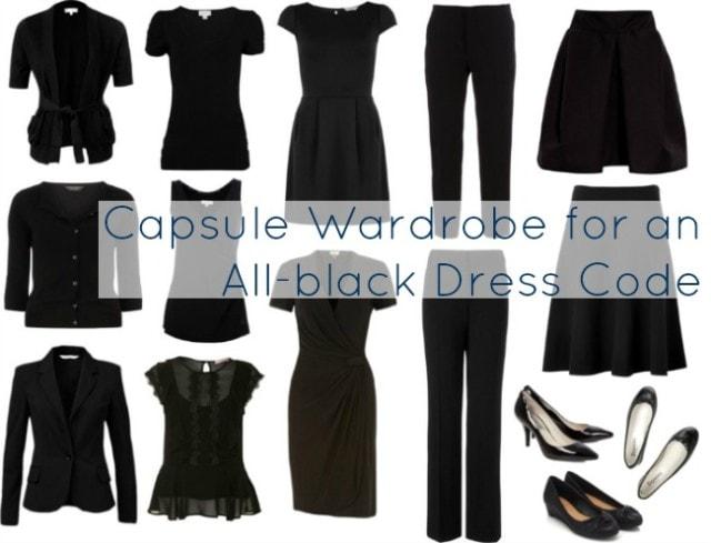 capsule wardrobe all black