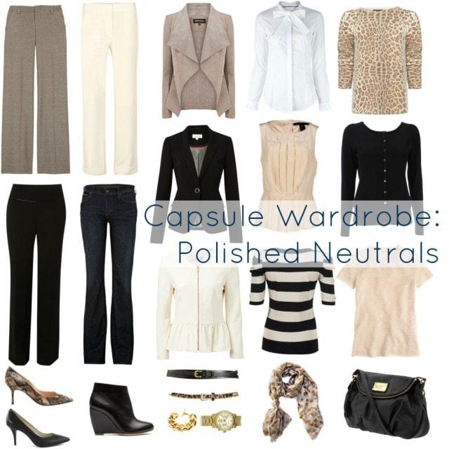 capsule wardrobe neutrals