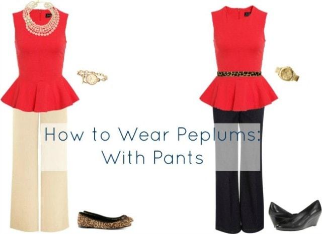 how to wear peplum pants