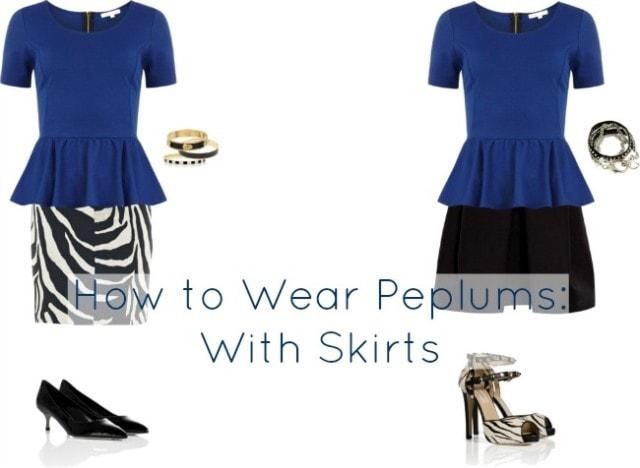 how to wear peplum with skirt
