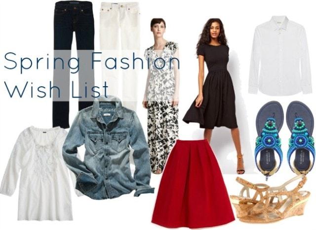 spring fashion wish list