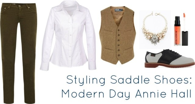 styling saddle shoes annie hall