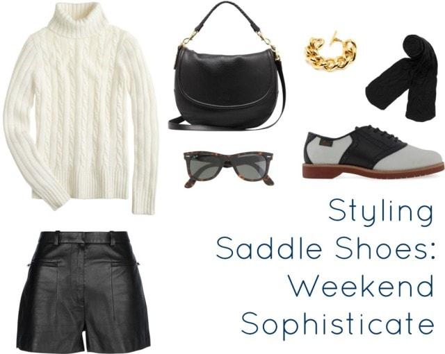 styling saddle shoes shorts