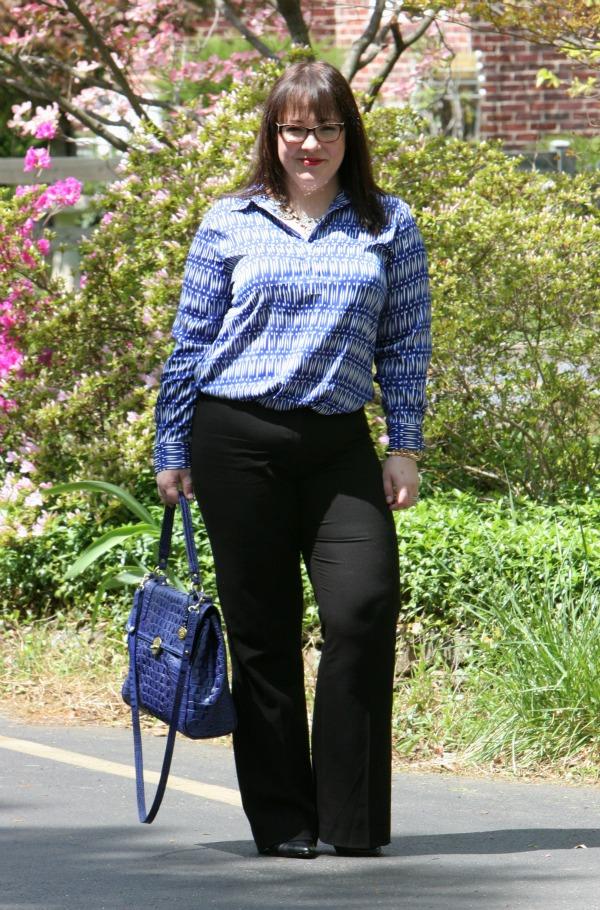 ann taylor ikat blouse