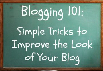 Not Fashion Related: Blogging 101