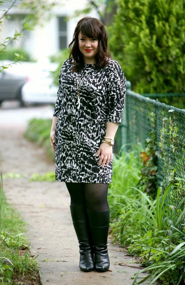 ann taylor graphic sonnet dress