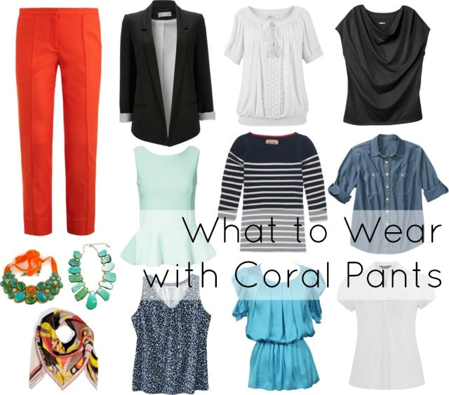 coral pants how to style