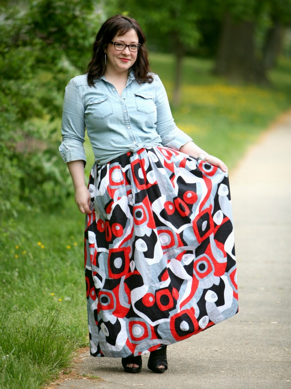 cotton maxi skirt etsy
