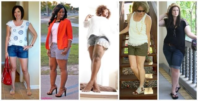 curvy women shorts 3