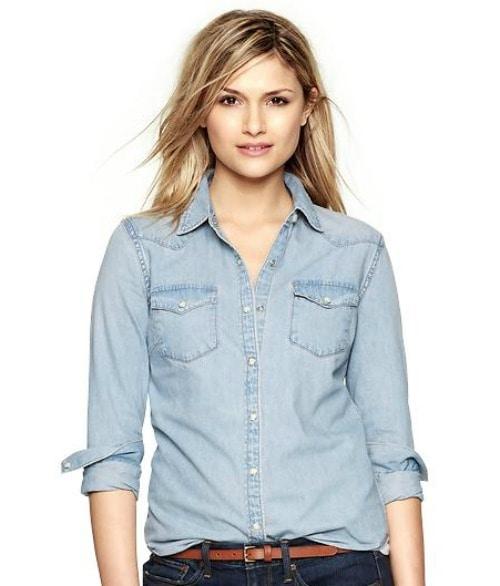 gap western shirt