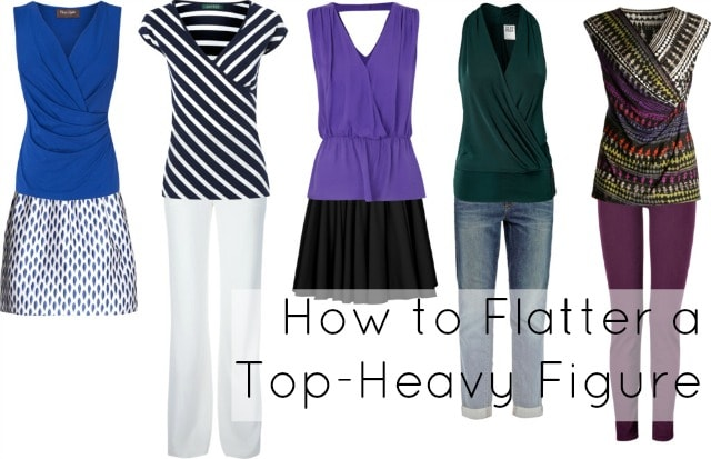 how to dress busty top heavy figure