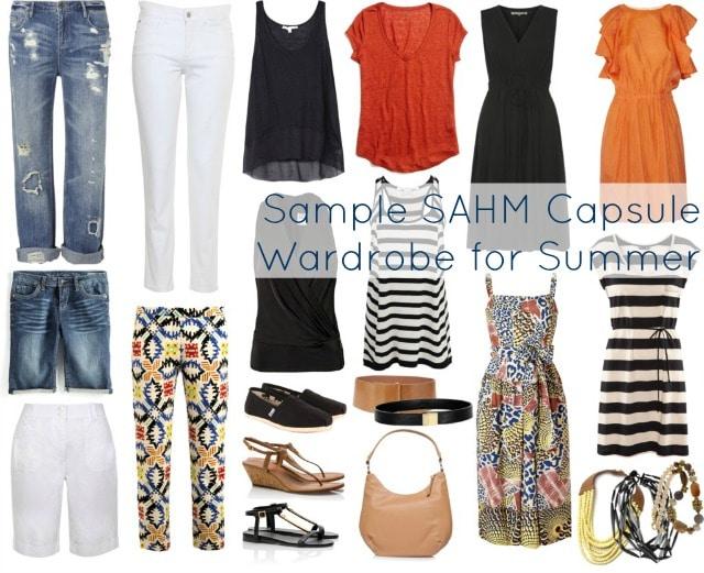 Sample SAHM Capsule Wardrobe for Summer