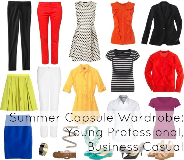 capsule wardrobe young professional