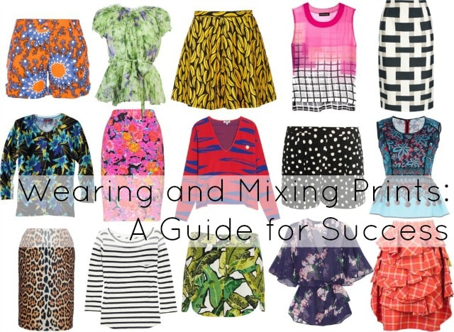 how to wear mix prints patterns