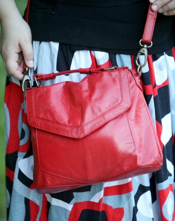 latico leather crossbody purse red