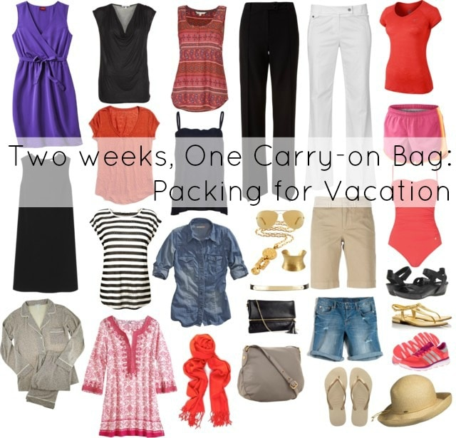 pack two weeks one carryon suitcase