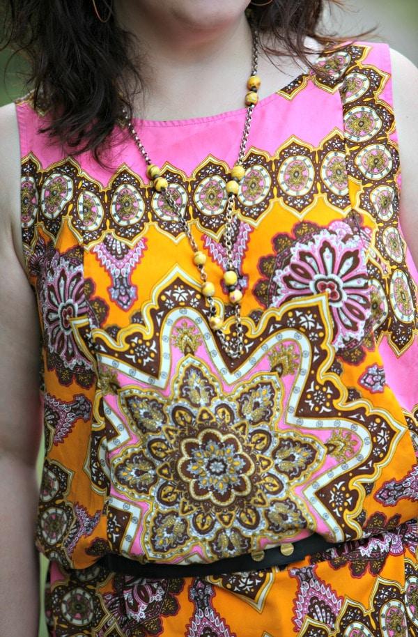 eloquii paisley blouse pink yellow