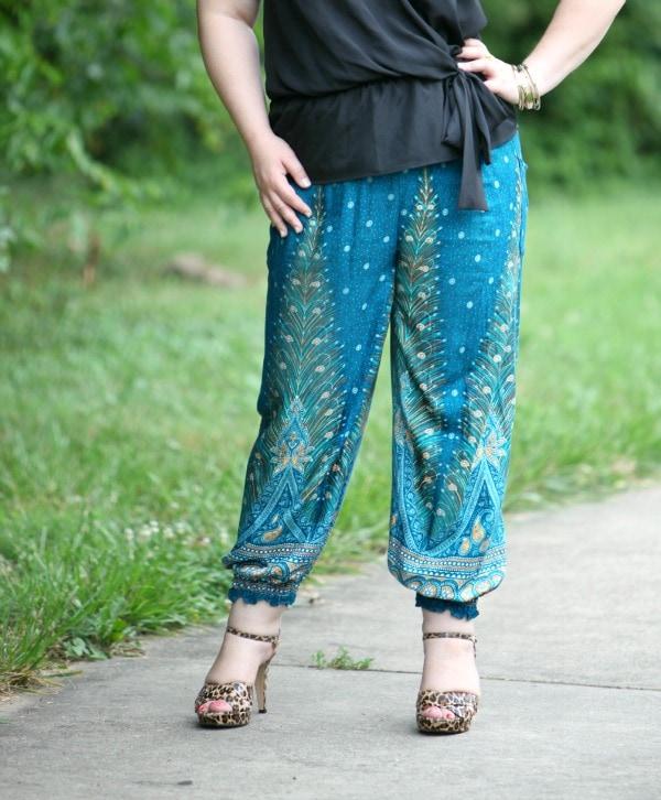 plus size harem pants