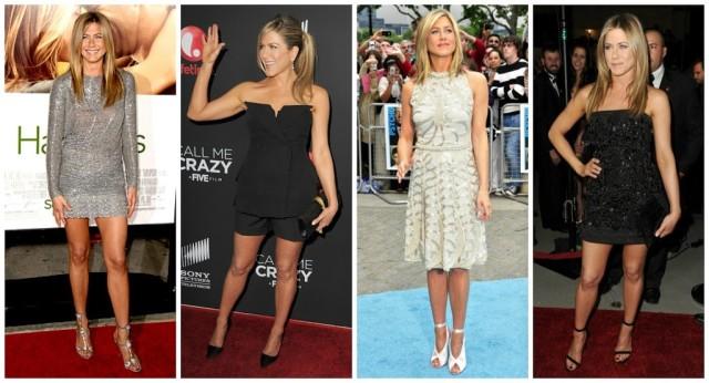 Jennifer Aniston style red carpet fashion