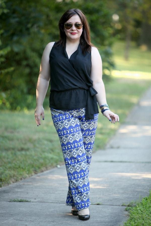Size 12 14 fashion blogger work clothing