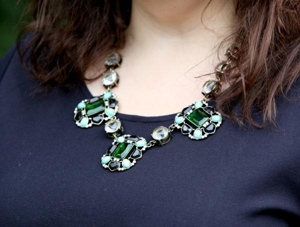 crystal green statement necklace jcrew