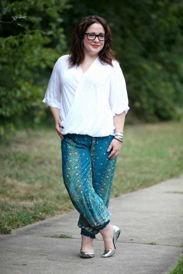 harem pants plus size curvy fashion blog