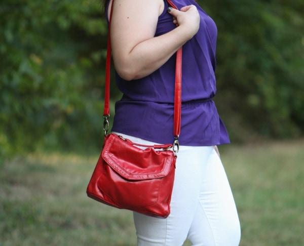 latico leather purse crossbody red