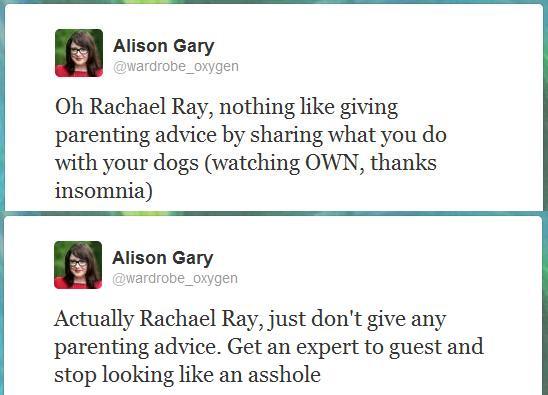Advice, Insomina, and Rachael Ray