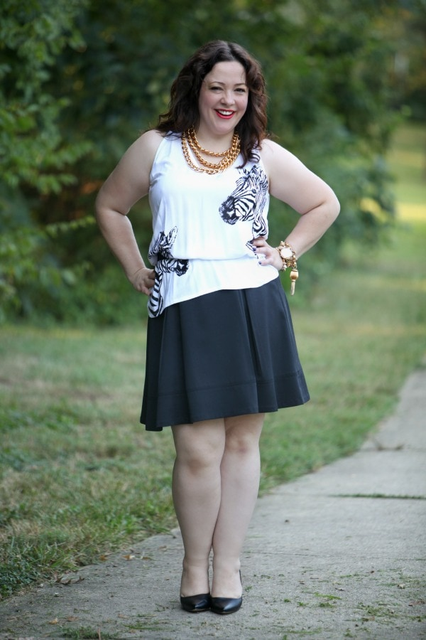 size 14 fashion blogger ootd