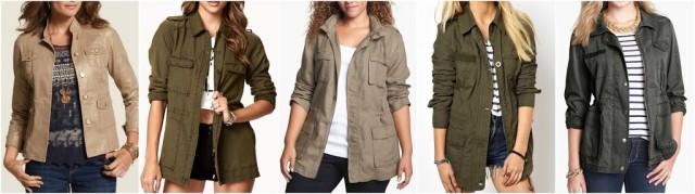utility army safari jackets