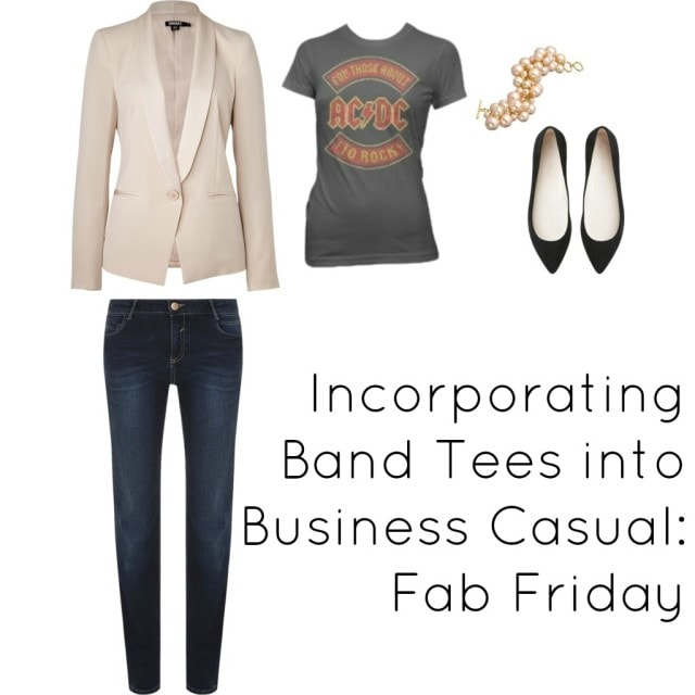 band Tshirt jeans work office dress code