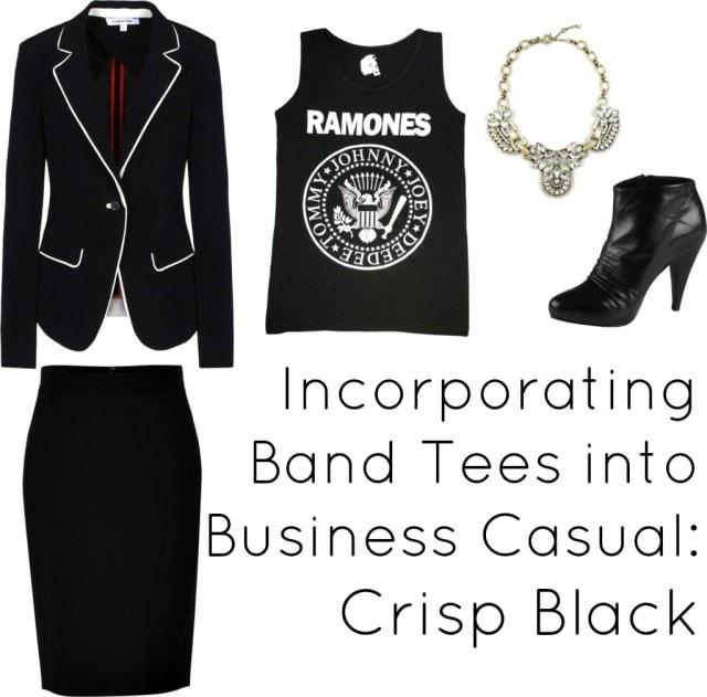 band tee dress code business casual