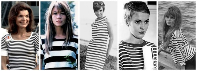 fashion icons chic in stripes