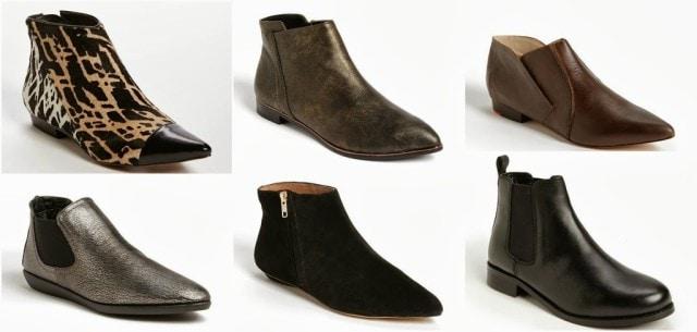 flat booties fashion trend fall winter