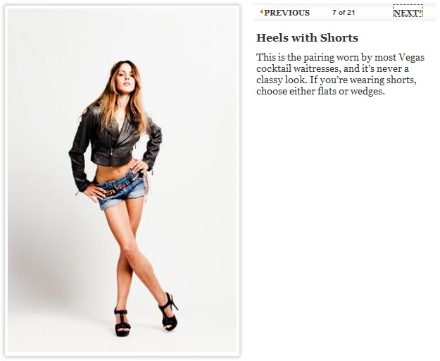 heels with shorts